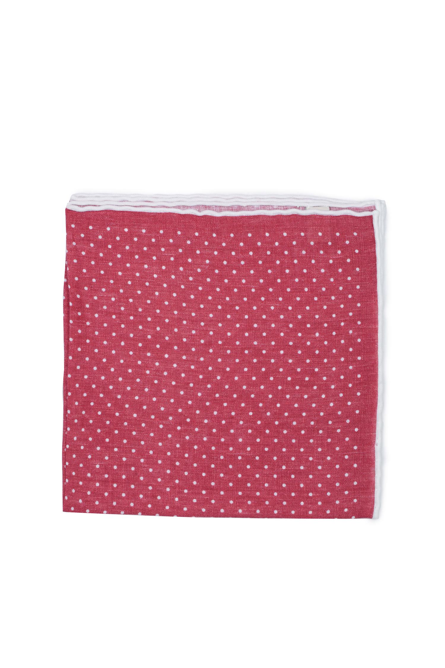 Pochette à pois en lin – rouge   Cadot c05ca5a5b0a
