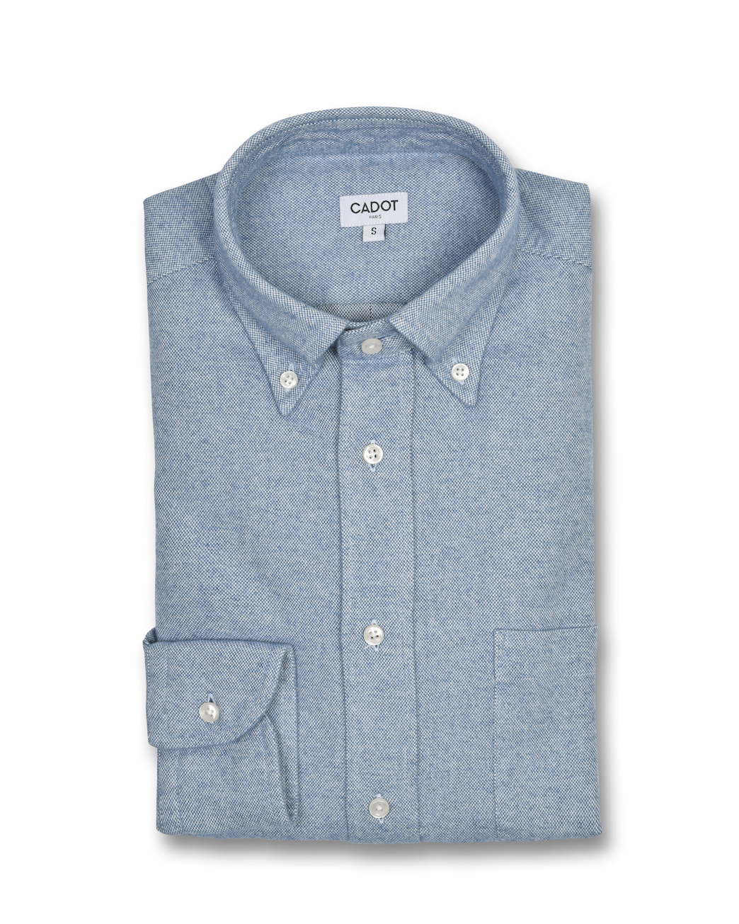 Chemise Gianni en coton Oxford – bleu ciel | Cadot