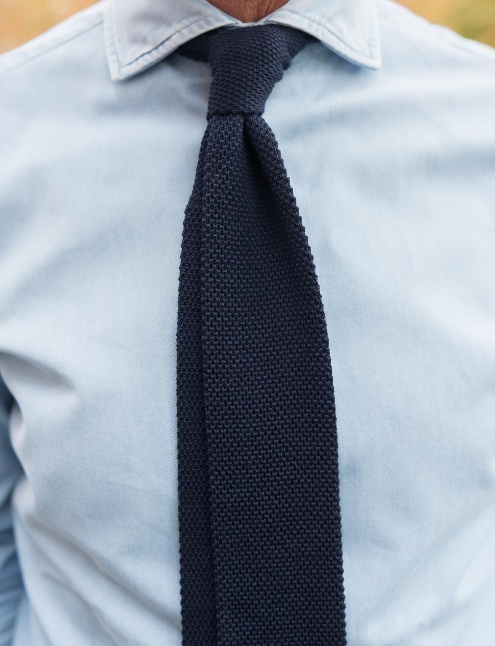 nouveau style de 2019 Acheter Authentic chaussures décontractées Cravate en tricot de laine - bleu marine