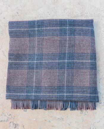 Echarpe en laine à carreaux – bordeaux gris c8cb3b77550