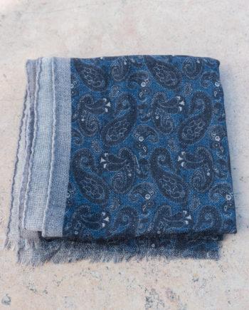 Echarpe en cachemire motif paisley – indigo ca3336f6c53