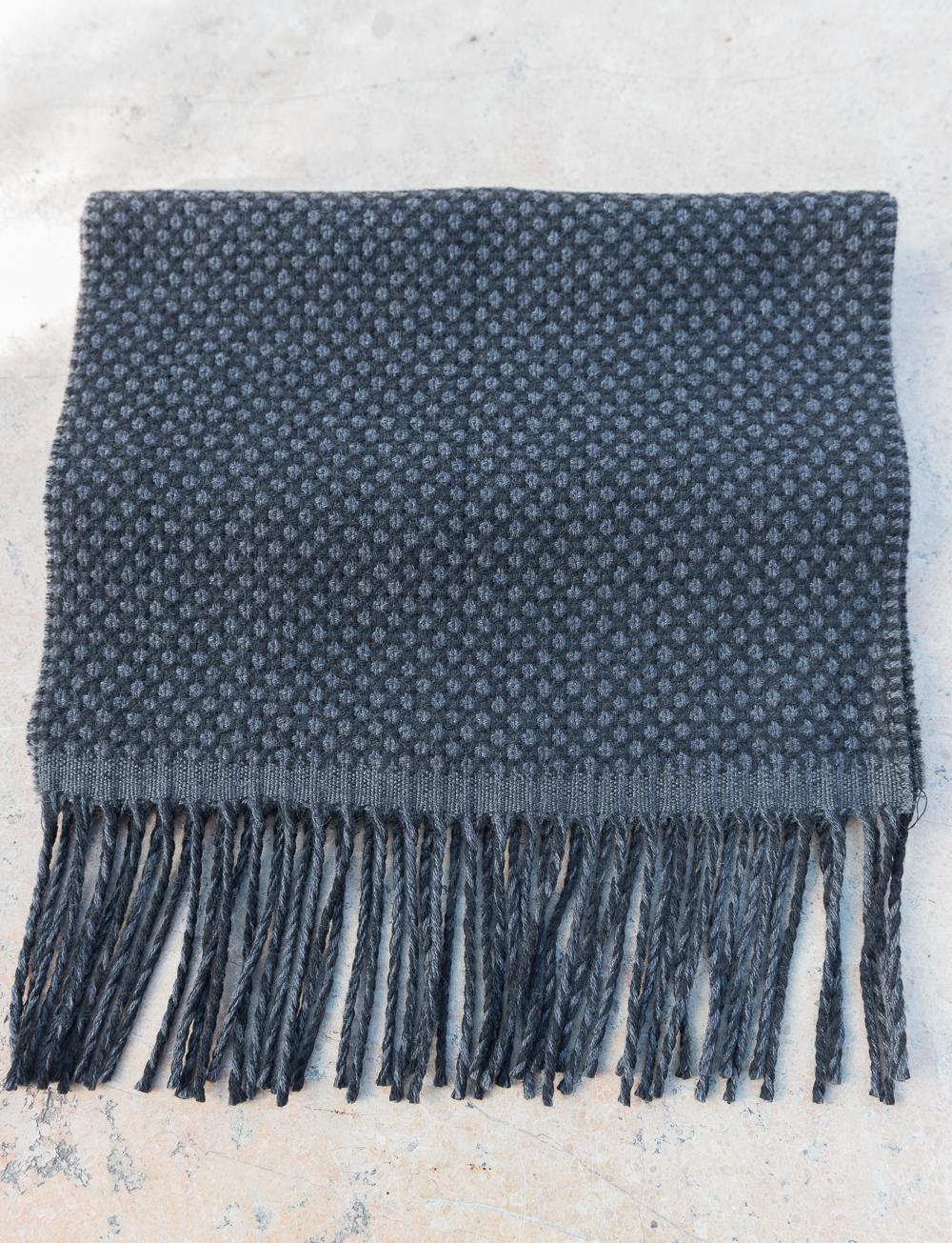 b5bfb4f7f315 Echarpe en laine à pois – noir gris. SOLDES. SOLDES. SOLDES