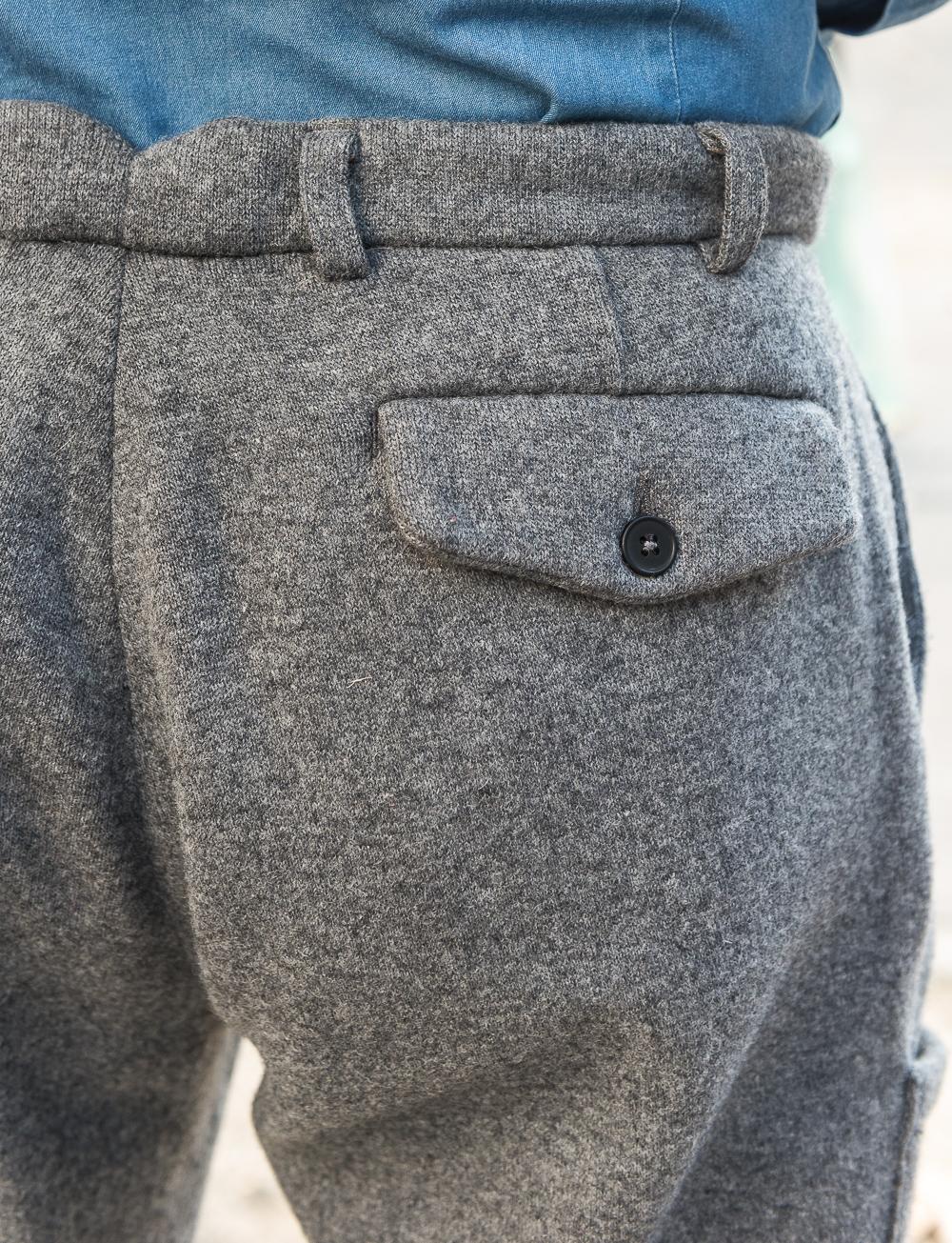 b2edd0f8917c Pantalon Tyler en jersey de laine et flanelle – gris