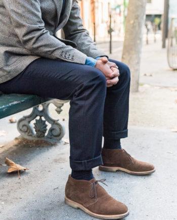 Pantalon en flanelle de laine – bleu marine 87fb8cda0ac
