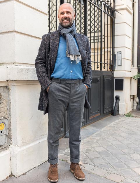 5d7350230c65 Pantalon en flanelle de laine – gris