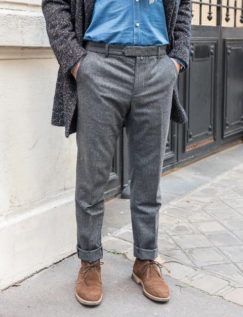4b91f1b41429 Pantalon en flanelle de laine – gris. 50%. 50%. 50%