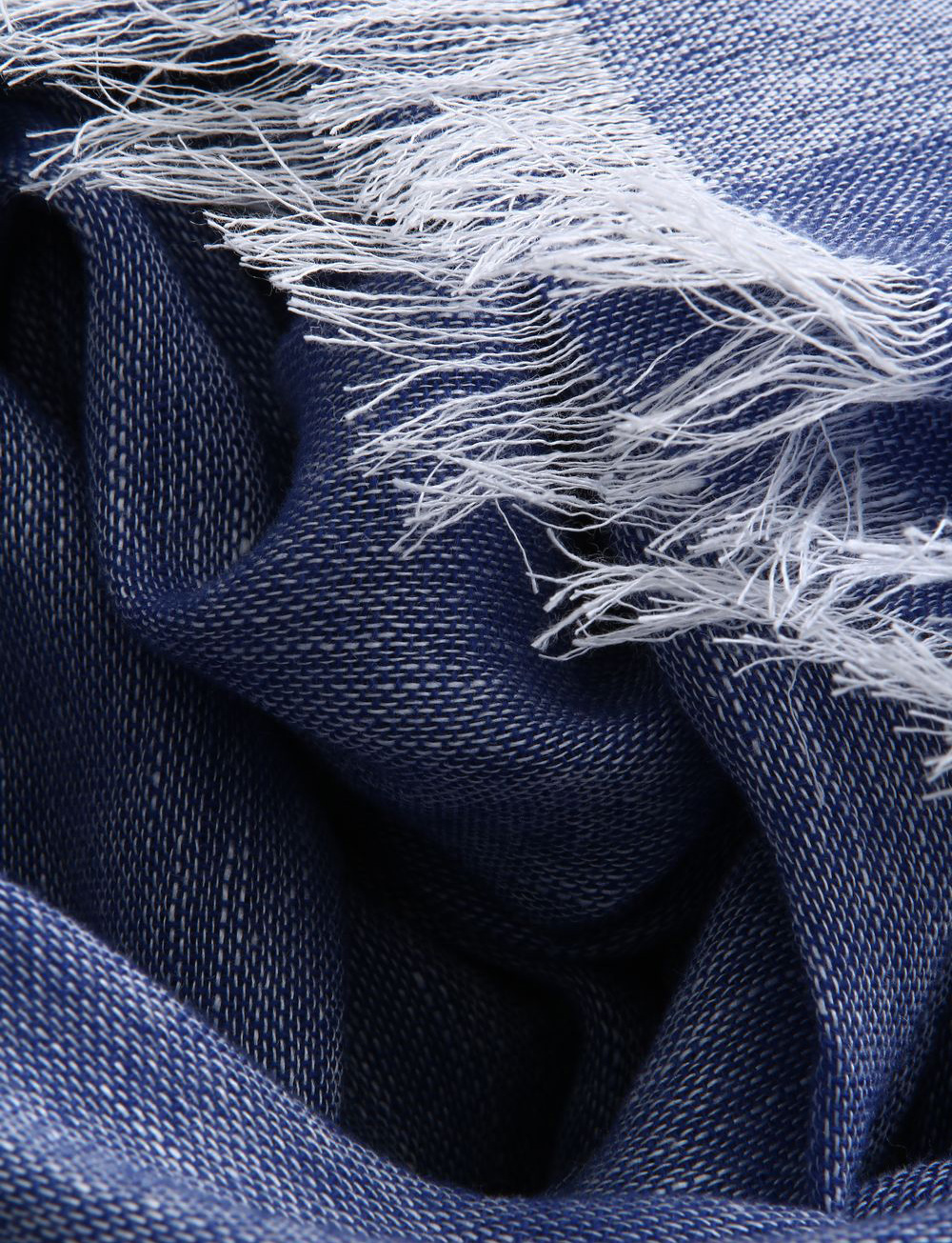 Echarpe unie en cachemire et lin – bleu roi   Cadot 7dd4db6b98b