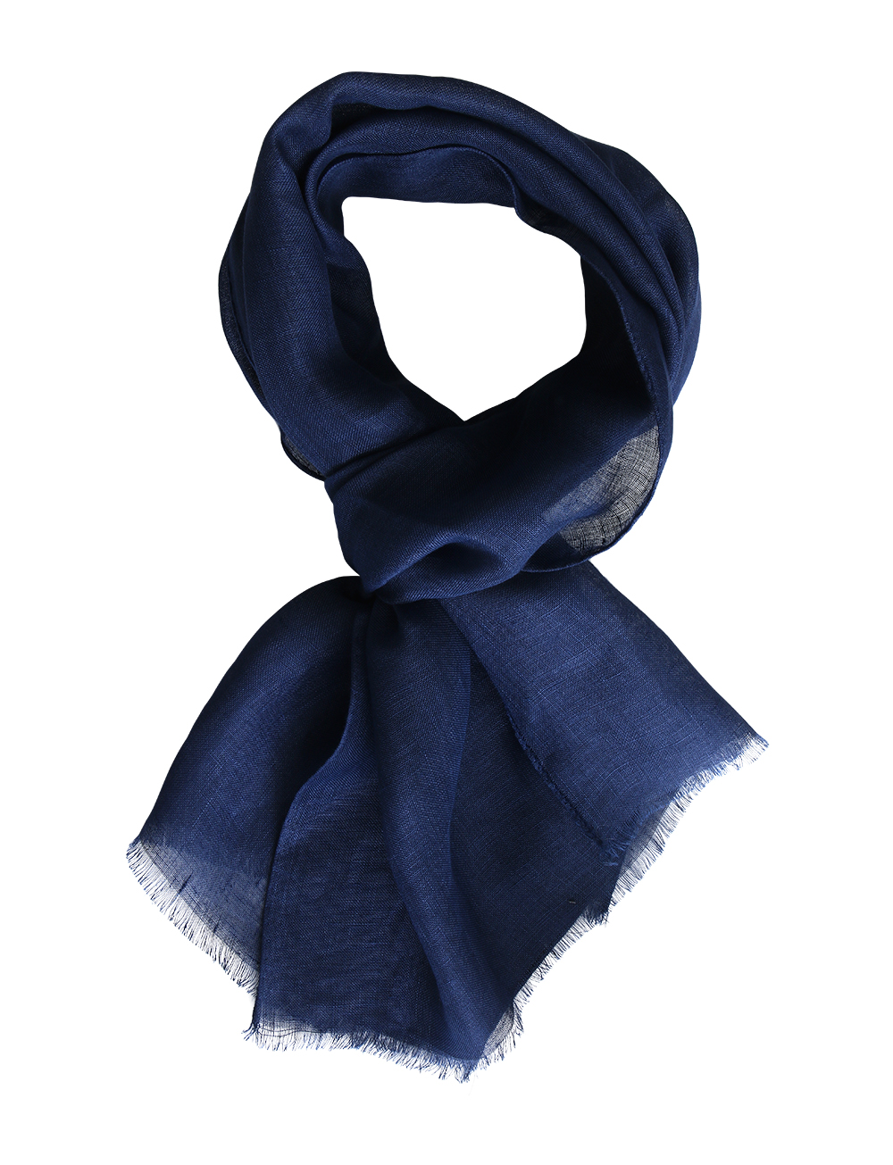Echarpe unie en lin – bleu marine   Cadot 089c8ba740a