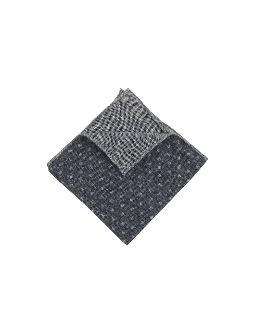 Pochette à pois en cachemire – gris gris souris   Cadot 163e3e4851a