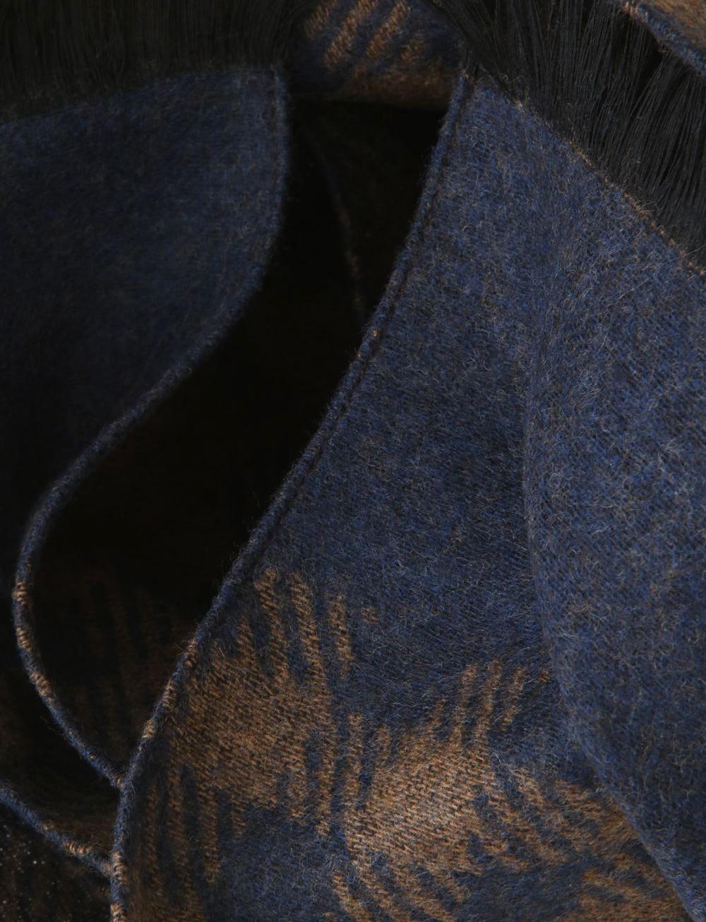 94e72fabd65 Echarpe à motif pied-de-poule en laine et soie – marron bleu marine. 50%.  50%. 50% · IMG 5790 tn