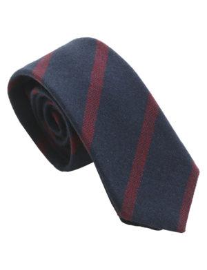 Cravate Club en laine – bleu marine grenat a6e70480394